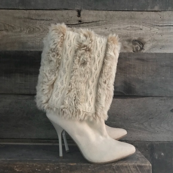 085cbd96d NINA Faux Fur Stiletto Boots. M 5b9ba6165bbb80d69c843b38